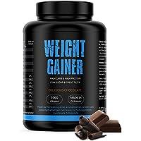 GYM-NUTRITION High Quality Weight Gainer | Auf Hafer - Gerstenbasis | Beliebt bei Bodybuildern Und Sportlern, die Masse aufbauen wollen | Geschmack Delicious Chocolate | 1Kg | Made in Germany