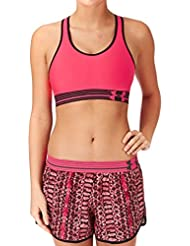 Soutien-gorge de sport Heatgear Alpha Under Armour - Rose Shock, Black/Noir Rose Shock,