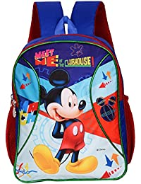 113a382156 Disney 14 Ltr Polyester Mutlicolor Mickey Mouse Meet at The Clubhouse  School Backpack
