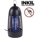 Inkil IG104223 - Lámpara antimosquitos eléctrica, luz uva, fulmina insectos, sin sustancias químicas, 30 m² (campana, 4 Wm 220 V) color negro