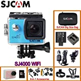 Black, Option 8: Original SJCAM SJ4000 WiFi Action Helmet Sports Camera Diving 30M Waterproof H. 264 1080P Full HD Underwater Sports DV