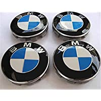 Juego de 4 tapabujes para llantas de aleación con la insignia de BMW, 68 mm, (68 mm)