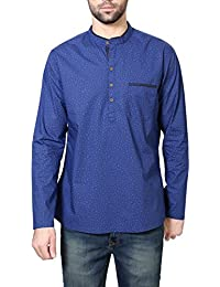Peter England Men's Mid Thigh Cotton Kurta