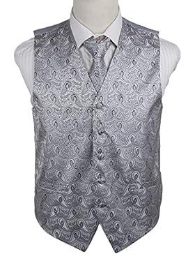 EGD1B.02 Multi Style Paisley microfibra Mens Tuxedo Chaleco Corbata Set Por Epoint