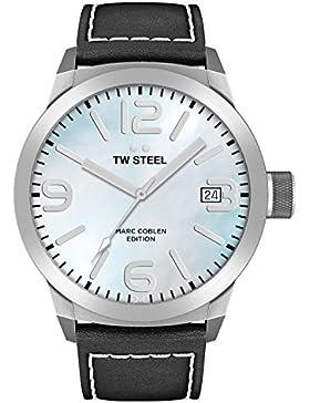 TW Steel Marc Coblen Edition mit Lederband 45 MM Blue MOP/Black TWMC23