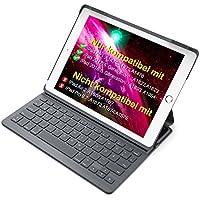 Inateck Ultra Slim Bluetooth Tastatur Hülle für iPad 2018(6. Generation), iPad 2017(5.Generation) und iPad Air 1, Keyboard Case mit automatischer wake/sleep- und Mulit-Angle- Ständer-Funktion(BK2003-DG)