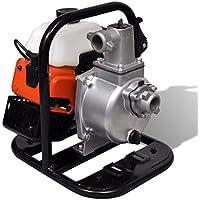 vidaXL Motobomba de agua a gasolina, 2 tiempos, 1.45 kW, 0.95 L Herramientas eléctricas