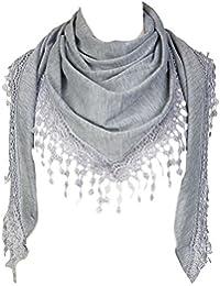 304966b5e9e3 Amazon.fr   Pompons - Argenté   Echarpes et foulards   Accessoires ...