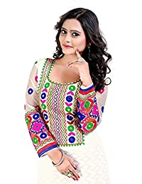 Clothfab Women Cotton Heavy Embroidery Work Pary Wear Patialas Style Semi-Stitched Salwar Suit Dress Material...