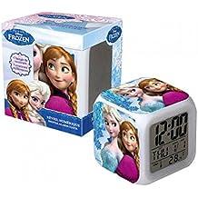 Disney Frozen–La Reina De Hielo Digital despertador con cambio de color
