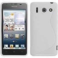 PhoneNatic Case für Huawei Ascend G510 Hülle Silikon weiß S-Style + 2 Schutzfolien