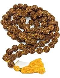 PTM Rudraksha 5 Mukhi RUDRAKSHA JAAP MALA FOR POOJA (ASTROLOGY) (108+1 Beads) 100% Original and Certified