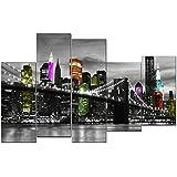 DekoArte - Cuadro moderno en lienzo New York // Nueva York 150x100cm