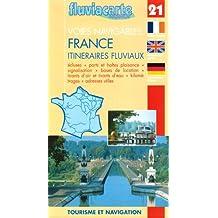 Carte marine : France : Itinéraires fluviaux