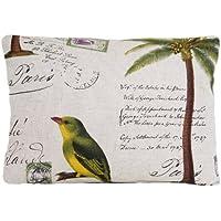 Cuscino per uccelli, stile Vintage, motivo uccelli, per cuscino con