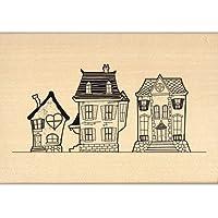 Florilèges Design FG113013 - Timbro per scrapbooking, fantasia: case, 7 x 10 x 2,5 cm, colore: beige
