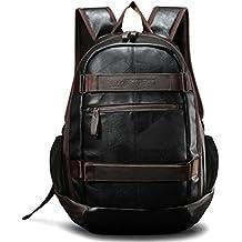 Wewod Hombre Moda Retro Backpack, resistente al agua y anti-abrasiva de estudiante Mochila, Mochila Deportiva Grande ,Mochilas para portatiles 15 pulgadas 34 cm * 45 cm * 15 cm (L * H * W)