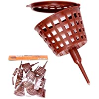 Abono de cesta con pin y tapa pequeño 3,5cm diámetro 10Pack 61047