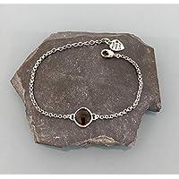 Bracciale donna bracciale acciaio inossidabile con pietra labradorite, bracciale in pietra naturale, bracciale, regalo donna, gioielli regali