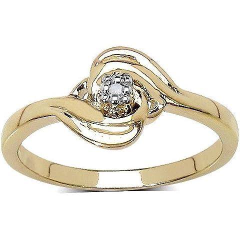 Colección Anillo Diamante: Solitario de Plata de ley y Diamante, Anillo compromiso, diseño