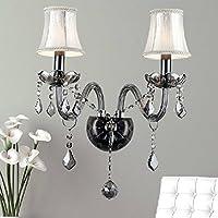 SU@DA Illuminazione europeo stile/moderno/cristallo lampada da comodino parete lampada doppia testa / / fotografia/candela wall (Candele Sconce)