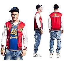 3ad84eae9f9e8 Disfraz Camiseta de Rapero Original de Carnaval para Hombre S de Microfibra  - LOLAhome