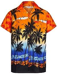 6e4b9647fcfb3 Redstar Fancy Dress - Camisa Hawaiana de Manga Corta - para Hombre -  Palmeras - Todas