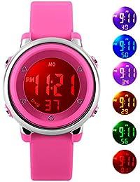 ENFANTS Digital montres pour filles cadeaux - 5 ATM étanche montre de sports de plein air avec 7 rétro-éclairage LED/alarme/date, électronique montre de sport pour adolescents pour enfants par FORUNER