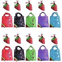 LIFECART Erdbeere faltbar ECO Taschen wiederverwendbare Einkaufstaschen Tote