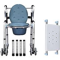 ZJBDQ Ancianos de móvil cómoda silla discapacitados silla plegable aluminio COMODA tocador , B
