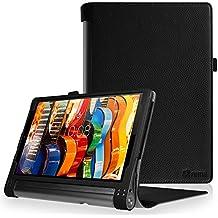 "Fintie Lenovo Yoga Tab 3 Pro / Yoga Tab 3 Plus 10 Funda - Fintie Folio Slim Smart Case Funda Carcasa para Lenovo Yoga Tab 3 Pro / Yoga Tab3 Plus 10.1"" Tablet, Negro"
