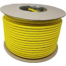 100M - Cat.7A + (Cat 8) Cable LAN de red Ethernet (Reel - Drum) 1500 MHz - 4 pares - Alta velocidad - Libre de halógeno / Cobre / Super Fast - (PoE) / PoE + (Amarillo)