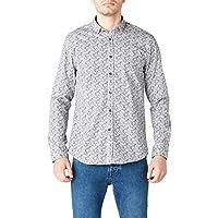 AVVA Erkek Günlük Gömlekler Şal Desenli Gömlek
