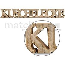 Schriftzug Kuschelecke aus Holz 59 x 8 x 2 cm Natur Buchstaben 3-D-Deko