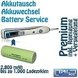 2800 mAh NiMH Akkuwechsel für alle OralB Triumph 5000 9000 9500 9700 9900 - Batterie Battery Akku Replacement Service Oral-B Akkutausch auch für 5500, 6500, 6000, 7000, 8000, 8300, 8500, 8900, 9400 und Modellnummern 3731, 3738, 3762 und 3764