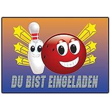 Bowling Einladungskarten Kindergeburtstag Verein Einladung Einaldungskarte    12 Stück