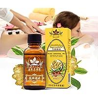 Ingwer ätherisches Öl, Ingwer Ätherisches Öl Massageöl Lymphatic Drainage Ingwer Öl für die Körpermassage, Muskelkater... preisvergleich bei billige-tabletten.eu