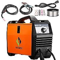Soldador de MIG 120 amperios 220V DC Mini soldadora de Mig portátil Inverter Naranja con Mig