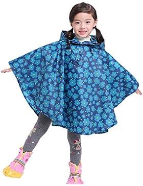 Regenponcho Baby Kapuzenmantel Niedliches Drucken Wasserdicht Regenjacke für Jungen und Mädchen