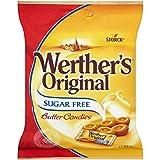 Sucre d'origine de Werther bonbons sans beurre (liste 80g) - Paquet de 6