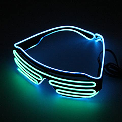 Blu e Verde Hot Wire Neon Luce LED fino a
