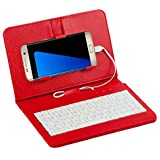 zolimx General Cable teclado Flip Funda caja para teléfono móvil con Android (rojo)