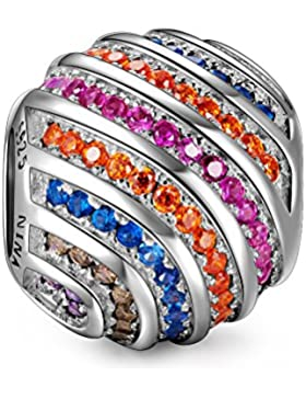NinaQueen - Regenbogen - Damen-Charm 925 Sterling Silber