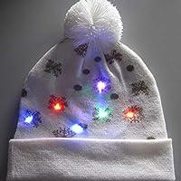 D.ragon LED Hut Mütze Stricken, Bunte Weihnachten LED Hut, Blinken Dance Hat,Winter Schnee Hut Pullover Beanie Hut Für Männer Frauen Indoor Und Outdoor, Festival, Feiertag