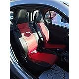 2Métrica Asiento Fundas Fundas Asiento delantero piel rojo de Negro OEM piel einteilig para Smart 450451452Fundas de asiento schonbezüge Colchón Fortwo Coupé (C 450) Fortwo Coupé (C 451) brabus Fortwo (C 450) brabus Fortwo (C 451) Smart K (C 450) Fortwo Cabrio (a 450) Fortwo Cabrio (a 451) brabus Fortwo Cabrio (a 451) CROSSBLADE (R 450) Roadster (R 452) Roadster Coupé (C 452) Top calidad con orificios para airbag Lavado Bar