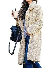 SODIAL Mode Femme épais Doux Teddy Chaud Fourrure D Ours Polaire Moelleux  Manteau Longues Vestes 7df448d48485