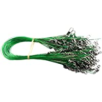 zreal 40pcs mosca línea de pesca conector Leader inalámbrico Surtido manga de acero inoxidable rollos pivots accesorio