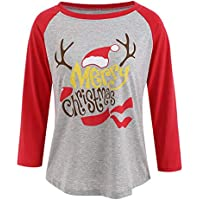 LILICAT☃ Camiseta de Manga Larga con Estampado Animal y Estampado Animal de Navidad para Mujer Camiseta Holgada con Manga Larga y Estampado Animal
