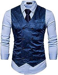 Successg Männliche Hochwertige Slim Fit Freizeit Jacquard Anzug  Weste Männer Druck Freizeit Geschäft Blazers Jacke 1da9e43654