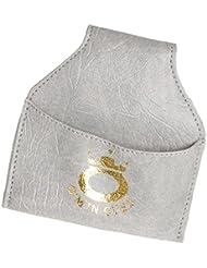 Generic Snooker Porte-craie Sac Housse Billard en Cuir PU avec Clip Crochet au Ceinture/Pantalon - Gris, Taille unique